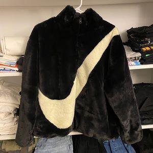 Nike Faux Fur Swoosh Jacket
